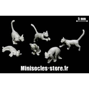 Les chats (Set 2) Echelle 28-32mm