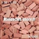 Briques 1/32-35 (x1000) Rouge Mélangé