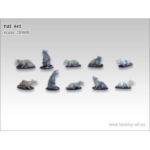 Set de gros rats Echelle 28-32mm (x10)