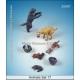 Set de chiens et chiots (x7) Echelle 54mm