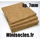Plaque de liège - 7mm MINISOCLES