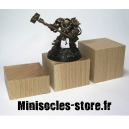 Socle cube hêtre plat - 4x2cm