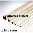 Tige Balsa carrée 2mm
