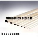 Tige Balsa rectangulaire 2x3mm