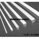 Tige carrée 3x3mm (33cm)