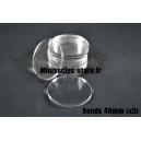Socles ronds 40 mm pleins ACRYLIQUE TRANSPARENT (x5)