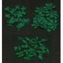 Photo découpe Papier Set N°1 de Feuilles Vertes 1:35 MINISOCLES