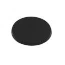 Socles ronds 60 mm pleins PLASTIQUE NOIR (x2)