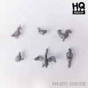 Set d'oiseaux Echelle 28-32mm (x6)