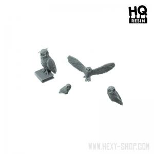 Chouettes et Hibou Echelle 28-54mm