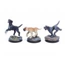 Set de Chiens type Mastiffs Echelle 28-32mm (x3)
