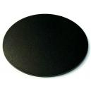 Socle Ellipse 120mm plein PLASTIQUE NOIR (x1)