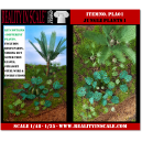 Kit Résine + Photo Découpe Plastique Plantes Jungle (N°1) 1:35