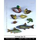 Set d'animaux des forêts et rivières N°2 (x8) Echelle 54mm