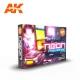 Set de couleurs fluorescentes (NEONS COLORS SET, 6*17mL)