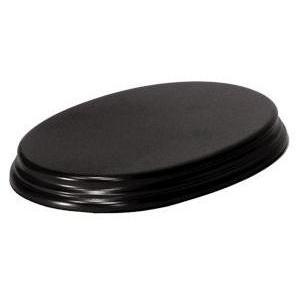 Socle Ovale 22cm Très Grand Modèle Noir
