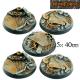 Socles industriels 40 mm (x5)